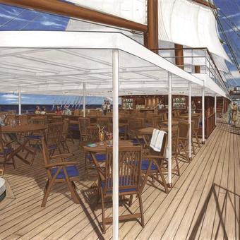Sea CLoud Spirit Lido Deck