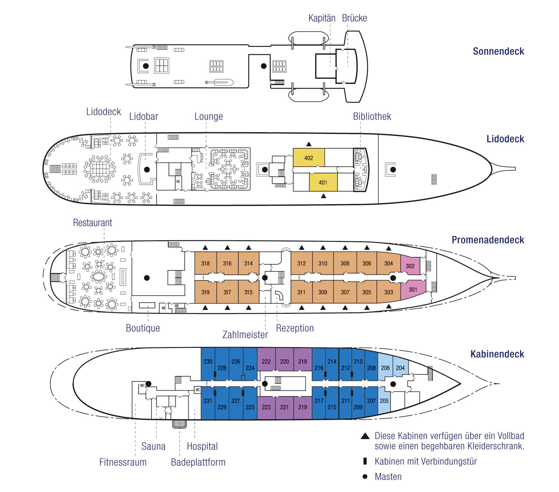 Deckplan Sea Cloud 2